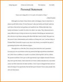 How To Write A Personal Statement For Resume by 3 Personal Statement For College Exles Attorney Letterheads