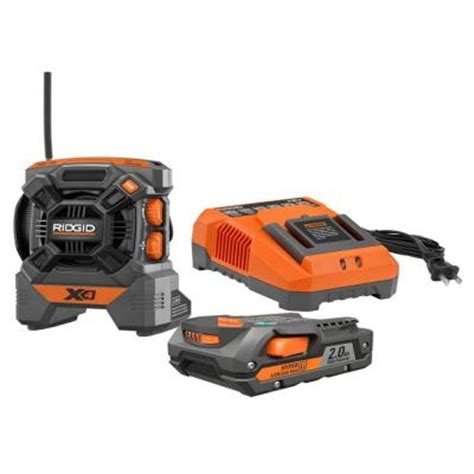 ridgid 18 volt radio kit r9610 the home depot
