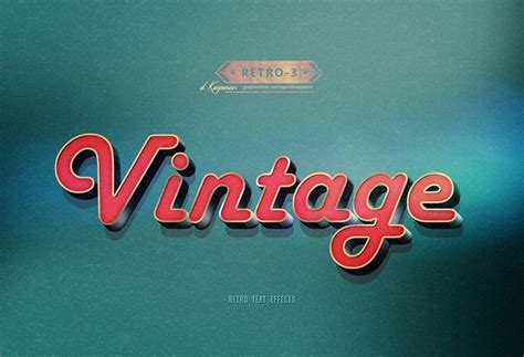 text effect template retro vintage text effect photoshop template vol 3 by