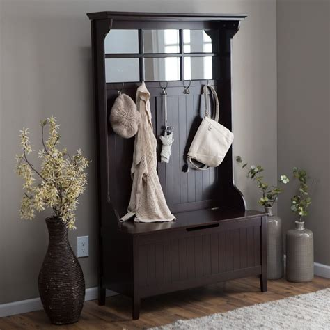 foyer coat rack bench attractive coat rack and bench with storage