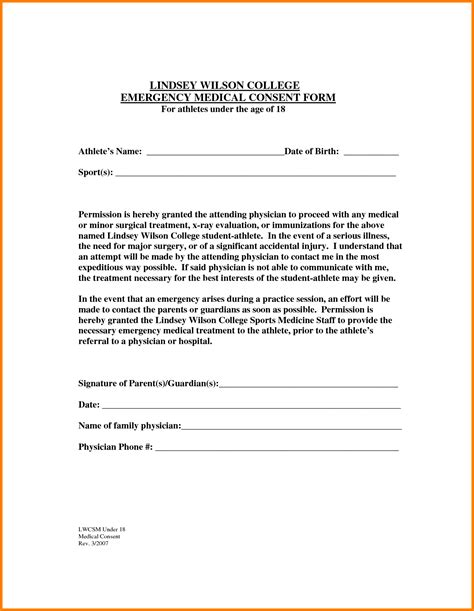 Release Letter For Grandparents 5 Child Consent Form For Grandparents Normal Bmi Chart