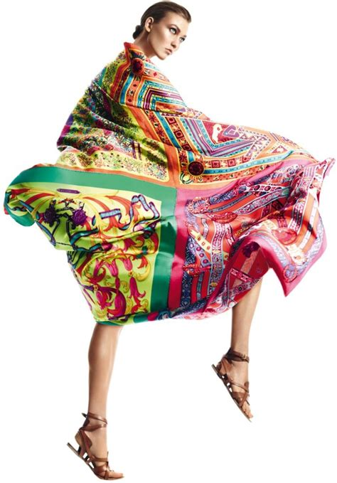 Hermes Guess Who Model In The Hermes Ss 07 Caign by Karlie Kloss Gets Wrapped In Scarves For Herm 232 S S S 2013