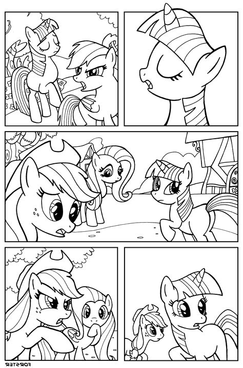 comic book coloring pages print my pony comic book by bill forster