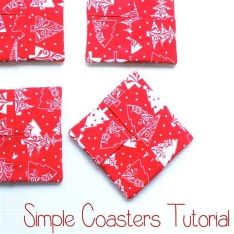pattern fabric coasters simple coasters free sewing tutorial