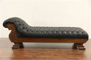 psychiatric couch sold victorian lion carved 1900 antique oak chaise
