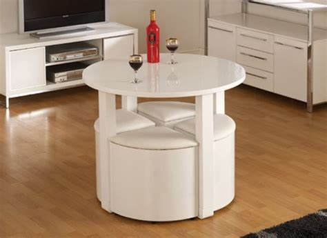 stowaway kitchen table and stools set stefan stowaway white gloss dining table and 4 white