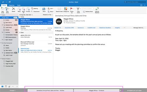 Boost Your Productivity With The New Full Screen View Feature In Outlook For Mac Microsoft 365 Outlook Templates Mac