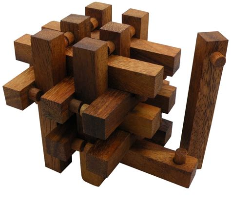 woodworking puzzles stack interlocking 14 pieces wooden puzzle