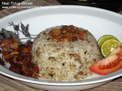ordinary kitchen nasi tutug oncom