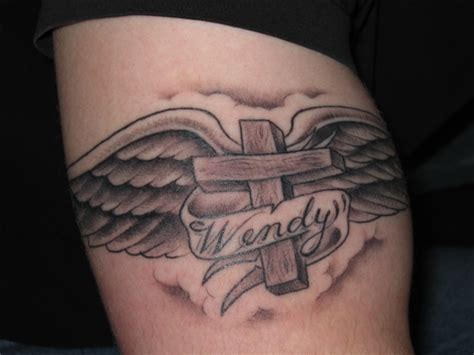 cross tattoos for men with names cross ideas for
