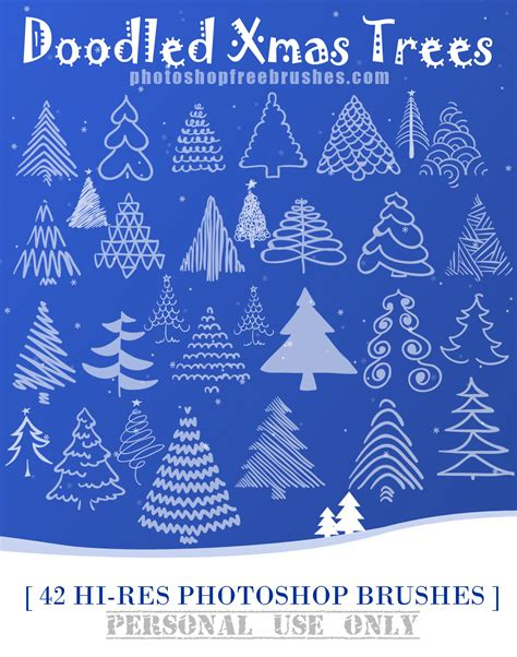 christmas holidays free ps brushes and patterns