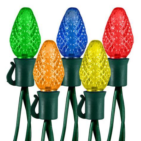 25 C7 Led Multi Color 17 Ft String Lights C7 Led Multi Color Lights