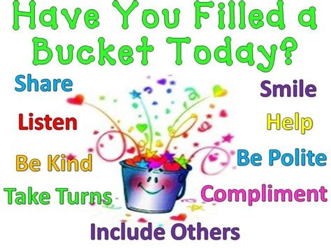 have you filled a bucket filler initiative bruntsfield primary