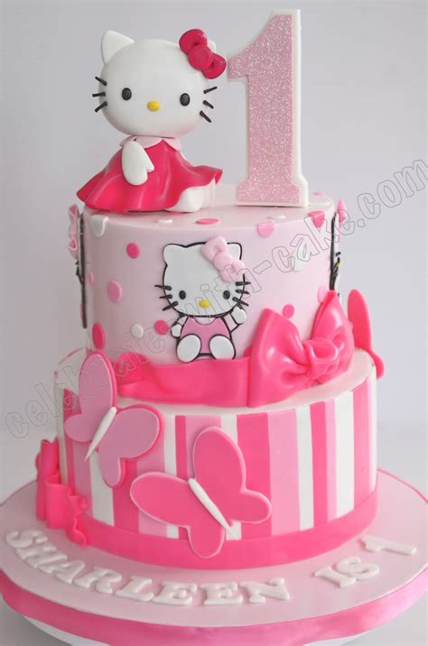 Special Mainan Anak Perempuan Modern Home Shower Kado Mainan Anak celebrate with cake 1st birthday hello tier cake