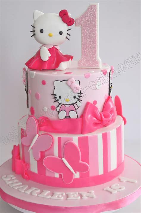 hello kitty themed cake celebrate with cake 1st birthday hello kitty tier cake