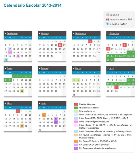 calendario escolar castilla y le 243 n 2013 2014 vacaciones