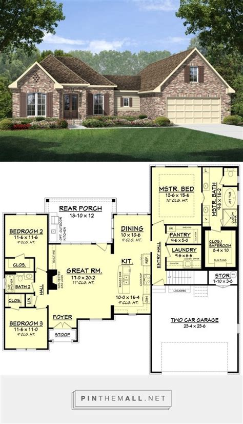house plan 110 00135 ranch 156 best floor plans images on pinterest