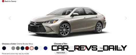 2015 camry colors 2015 toyota camry colors and trims visual buyers guide