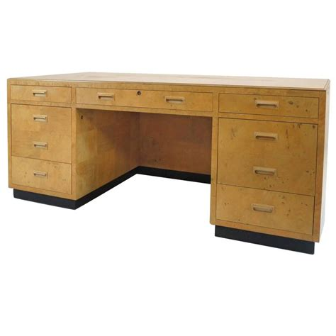 Henredon Scene Two Executive Desk In Burl Wood For Sale At Henredon Desk