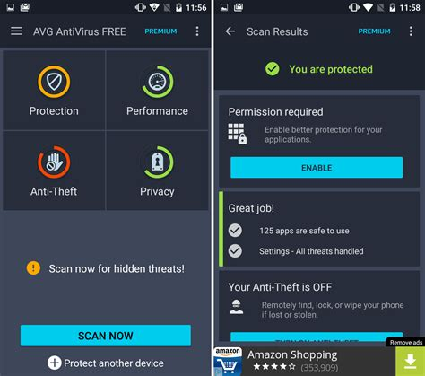 android anti virus android security apps review avast mobile security and bitdefender