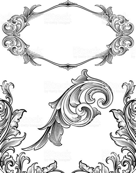 set of arabesque pattern frame border arabesque flourish set stock vector art more images of