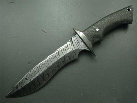 carbon fiber knives phillip patton damascus and carbon fiber fighting combat