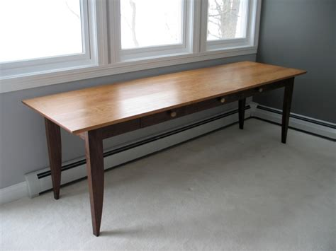 8 foot desk custom writing desk with drawers in walnut and cherry david hurwitz originals