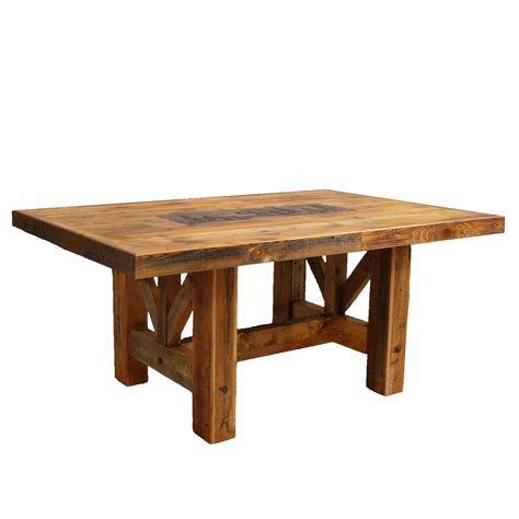 Barnwood Farmhouse Trestle Table   120 x 54