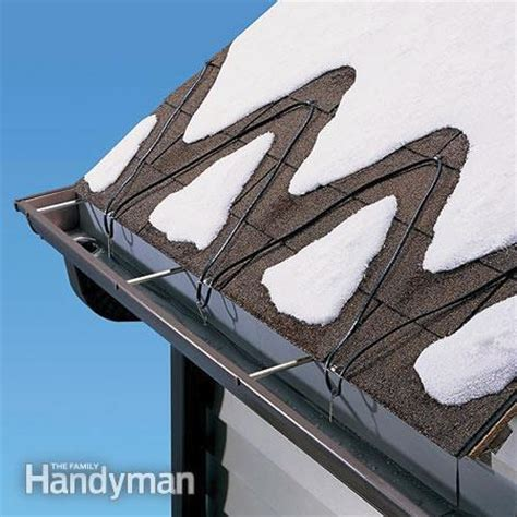 How To Prevent Roof Dams How To Prevent Dams With Deicing Cables The Family Handyman