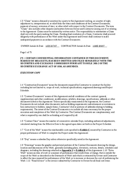 Pipeline Construction Contract Dispute Sle Contractor Agreement Construction Contract Cost Plus Building Contract Template