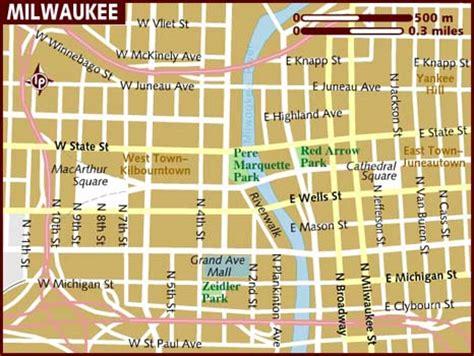 milwaukee map usa map of milwaukee