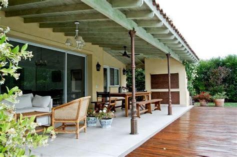 galerias de casas de campo  parrilla columna cano