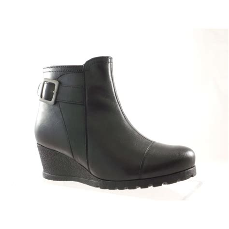 black leather wedge ankle boots yu boots