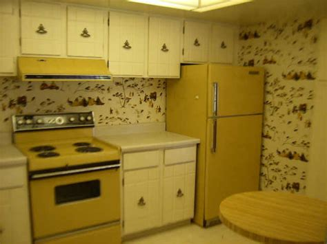 gold appliances harvest gold retro kitchen ugly house photos