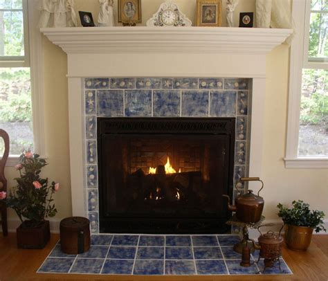 Blue Fireplace by Blue Marble Tile Fireplace Mantel Surround Also Antique