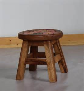 small wood stool child seating studio