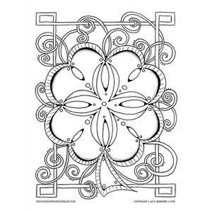 Clover Mandala Coloring Page | celtic clover mandala