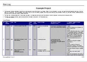 ms excel risk log template document templates