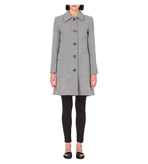 Wool Blend Coat With Sash whistles wool blend coat selfridges