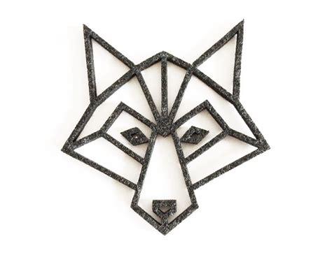 glasuntersetzer geo wolf aus filz geometrischer wolf