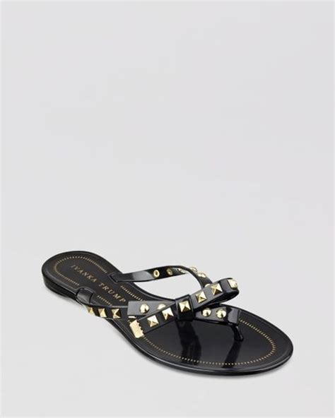 studded jelly sandals ivanka jelly flip flop sandals natty studded in