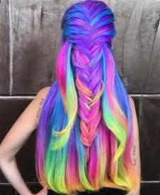 rainbow hair color 17 best ideas about rainbow hair on hair dye