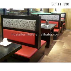 Italian Sofa Set Price Commercial Use Double Side Restaurant Booth Seating Fast