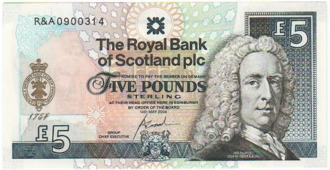 royal bank of scotland plc paper money paper money of the isles world