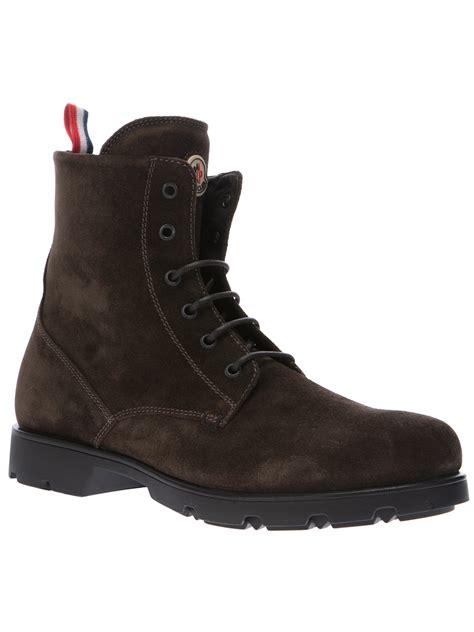 moncler boots moncler vancouver boots in brown for lyst