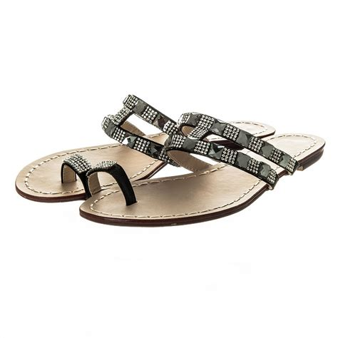 toe ring flat sandals flat jeweled toe ring mule sandal miss from miss