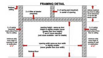 garage how to frame a garage door home garage ideas