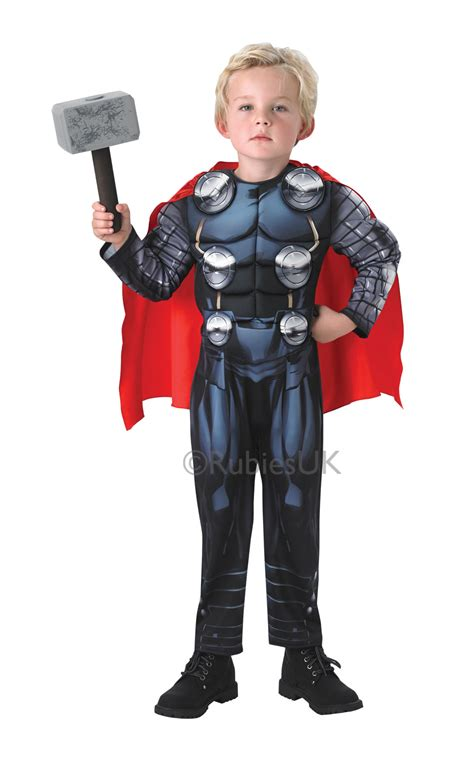 thor toddler boy s costume deluxe thor hammer boys fancy dress the childs costume