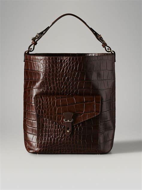 Massimo Dutti Wallet brown crocodile print shopper bag by massimo dutti http