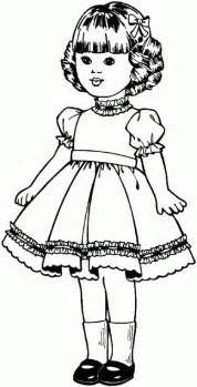 doll free printable coloring pages